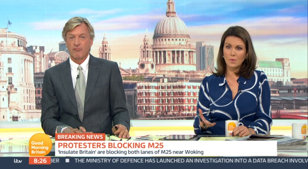 Richard Madeley goes off on 'ludicrous' Insulate Britain M25 protest on Good Morning Britain