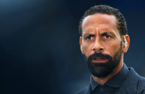 Rio Ferdinand speaks to BT sport ahead of the Premier League match between Chelsea and Manchester City at Stamford Bridge