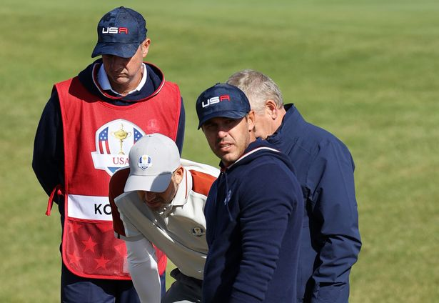 Brooks Koepka was involved in a controversial exchange with officials at the Ryder Cup on Saturday
