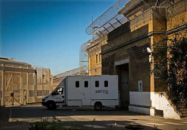 Prisoners are transported to prison by SERCO in high security vans. HMP Wandsworth, London, United Kingdom. (Photo by In Pictures Ltd./Corbis via Getty Images)