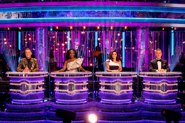 (left to right) Craig Revel Horwood, Motsi Mabuse, Shirley Ballas and Anton Du Beke during this year's BBC1's Strictly Come Dancing Launch Show