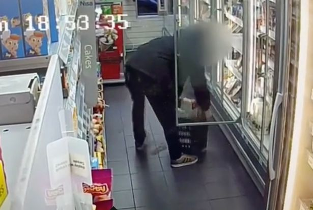 The man run away with £70 worth of meat and cheese at the grocery store