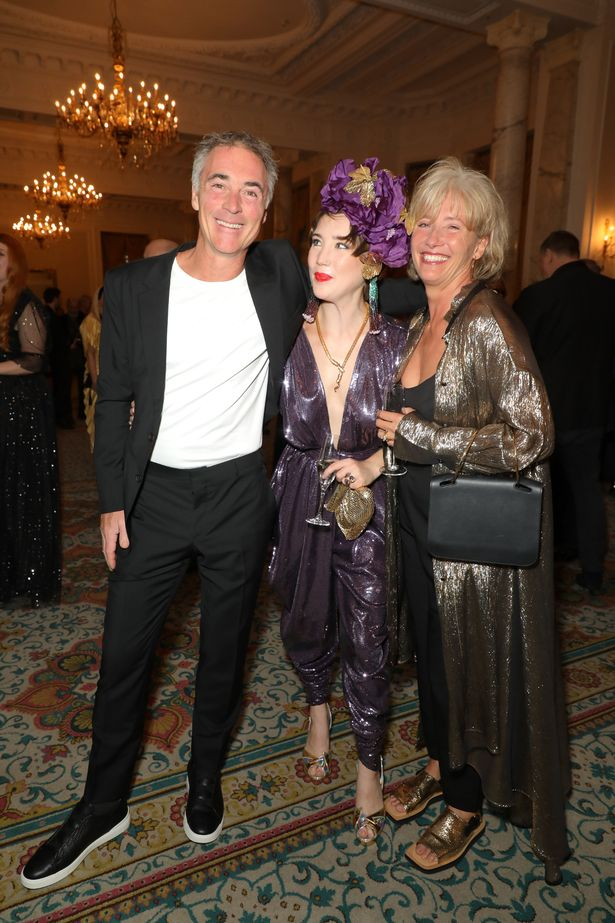 Greg Wise and Dame Emma Thompson attend The Icon Ball during London Fashion Week to support daughter Gaia Wise