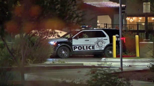 Police were called to an apartment complex in Las Vegas