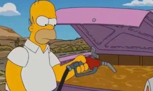 Fans are certain The Simpsons predicted the fuel shortage