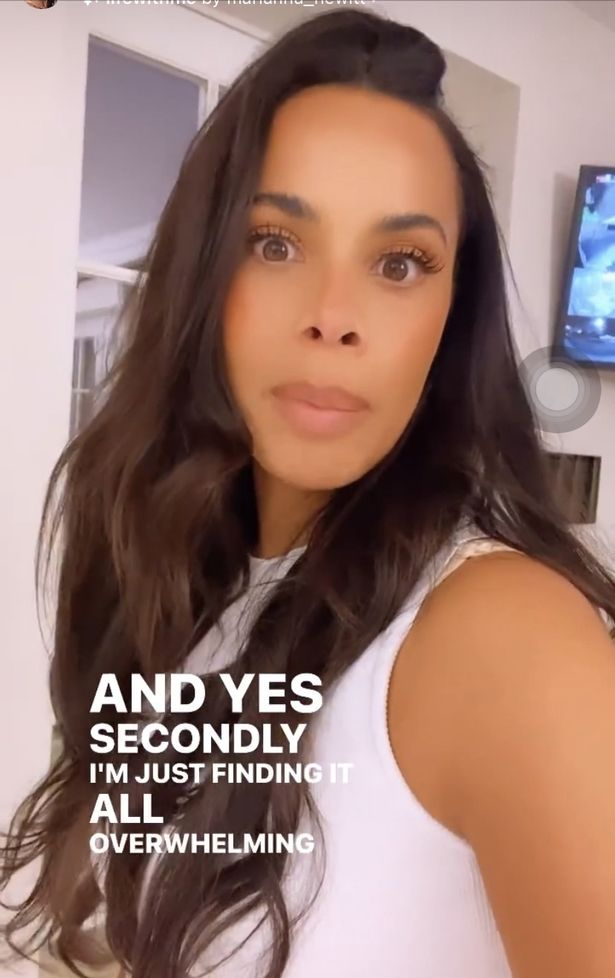 Rochelle Humes has admitted to feeling overwhelmed