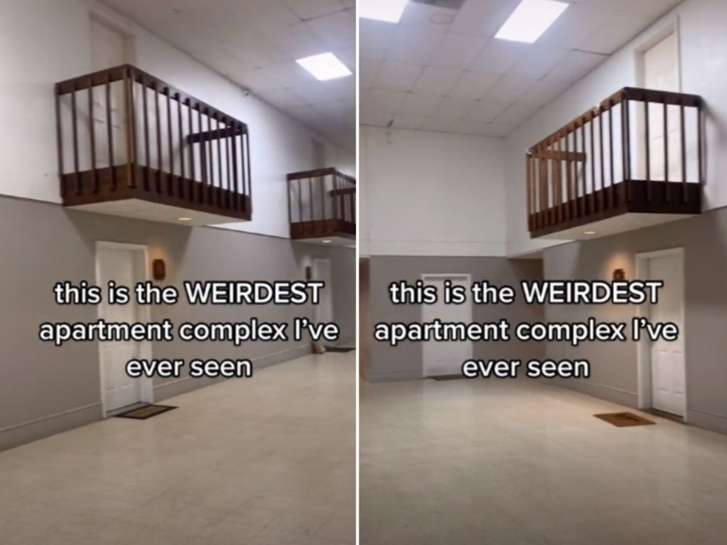This apartment complex that has indoor balconies is creeping people out