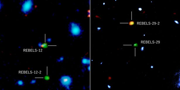 Two new galaxies discovered as old as universe covered up by cosmic dust