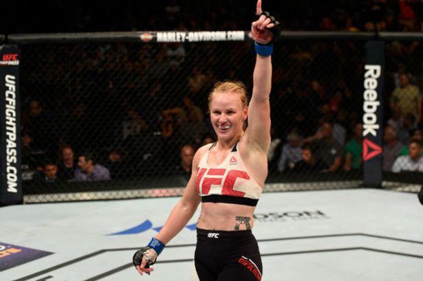 UFC star Valentina Shevchenko in the Octagan