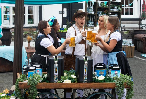 Residents of Llanwrtyd Wells wake up to an enchanting Bavarian wonderland as PerfectDraft brings the magic of Oktoberfest to the smallest town in the UK