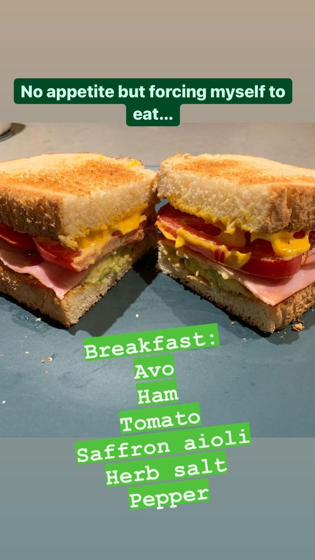 Ulrika took to her Instagram Stories to share food snaps