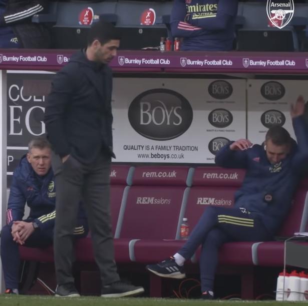 Arsenal assistant coach Albert Stuivenberg with Mikel Arteta