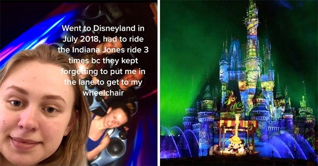 A woman alleges she was injured on a ride at Disneyland and details her long road to recovery | Photo: TikTok/gamma.aminobutyric.acid & Wikimedia Commons/Yayan550/CC BY-SA 4.0