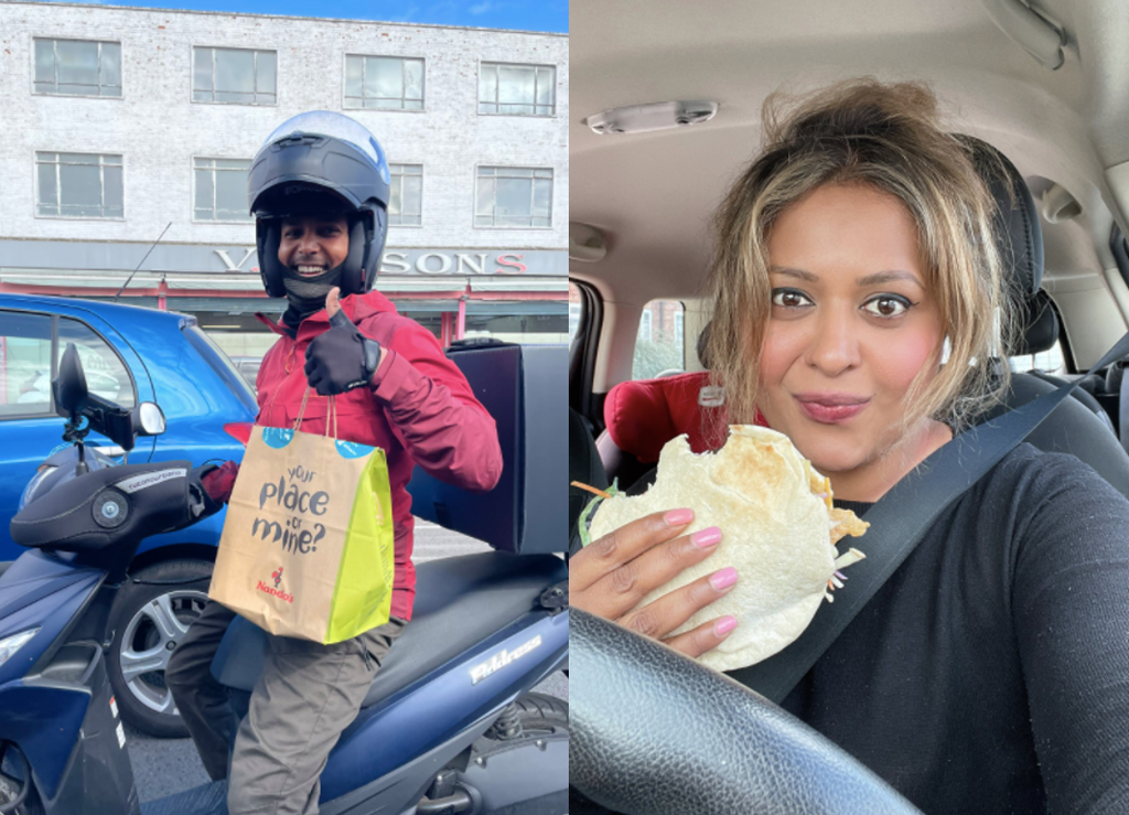 Woman gets Nando's delivered directly to her car while stuck in two-hour petrol queue