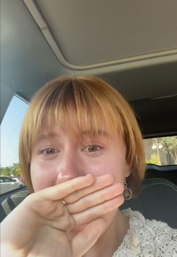 Carly got into her car crying and said she hated her new hair