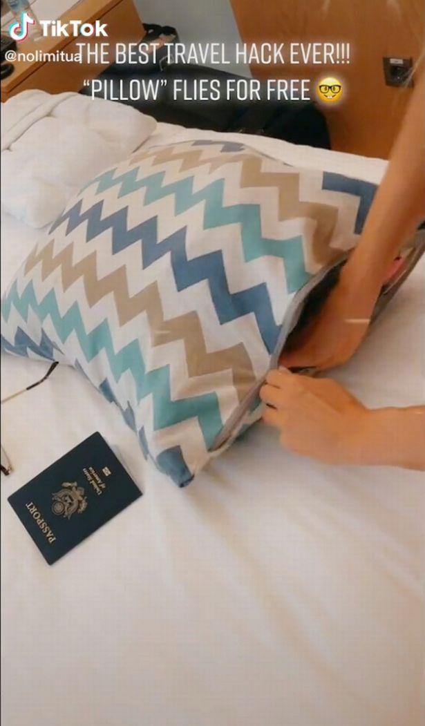 screenshot of pillow case