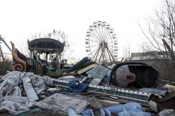 The former Six Flags site remains derelict 16 summers after Hurricane Katrina swept through the south
