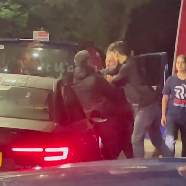 A fight at another petrol station earlier this week in Chichester, West Sussex