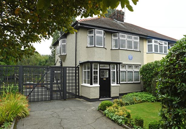 The house is found in the Woolton area of Liverpool
