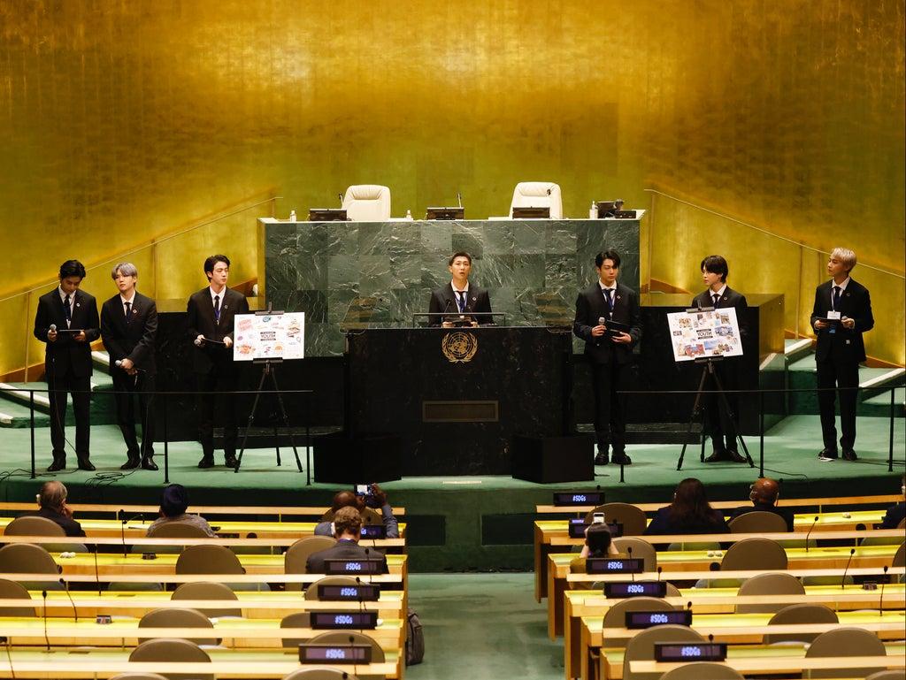 YouTube clip of BTS giving speech at UN General Assembly gets 6.5 million views... Boris Johnson's got 5,000