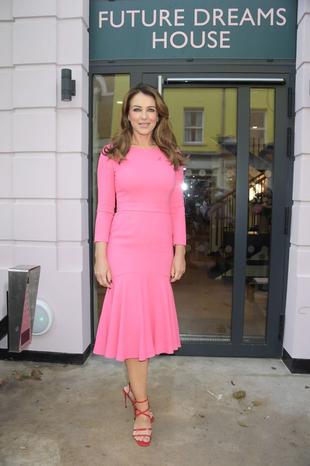 Liz Hurley opens the Future Dreams Breast Cancer Support Centre in London