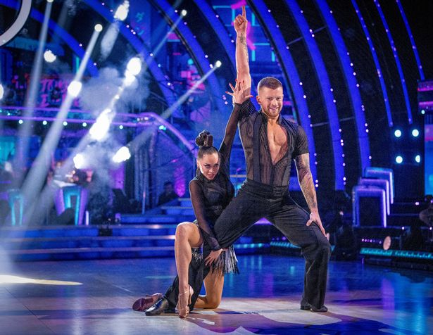 Adam is paired up with Katya Jones on the show