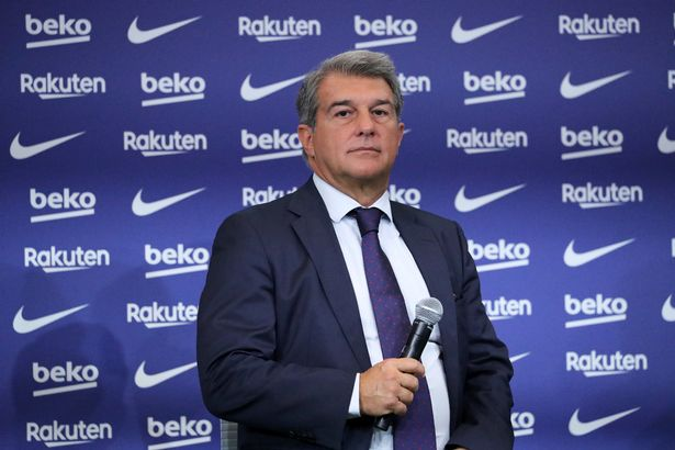 The president of FC Barcelona, Joan Laporta, during the presentation of Luuk de Jong as a new FC Barcelona player, on 09th September 2021, in Barcelona, Spain.