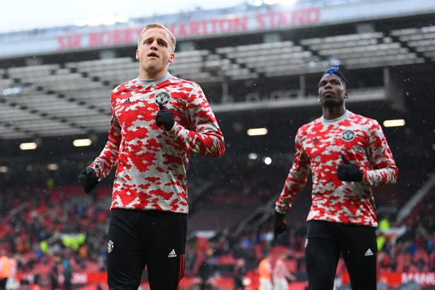 Van de Beek has been limited to long spells on the bench since joining Manchester United