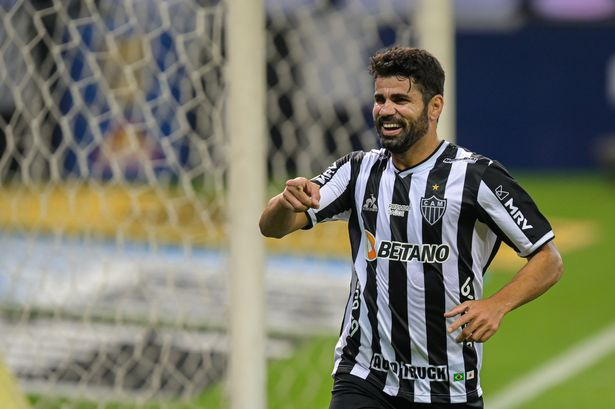 Diego Costa of Atletico MG celebrates a scored goal against Sport Recife during a match between Atletico MG and Sport Recife as part of Brasileirao 2021 at Mineirao Stadium on September 18, 2021 in Belo Horizonte, Brazil.