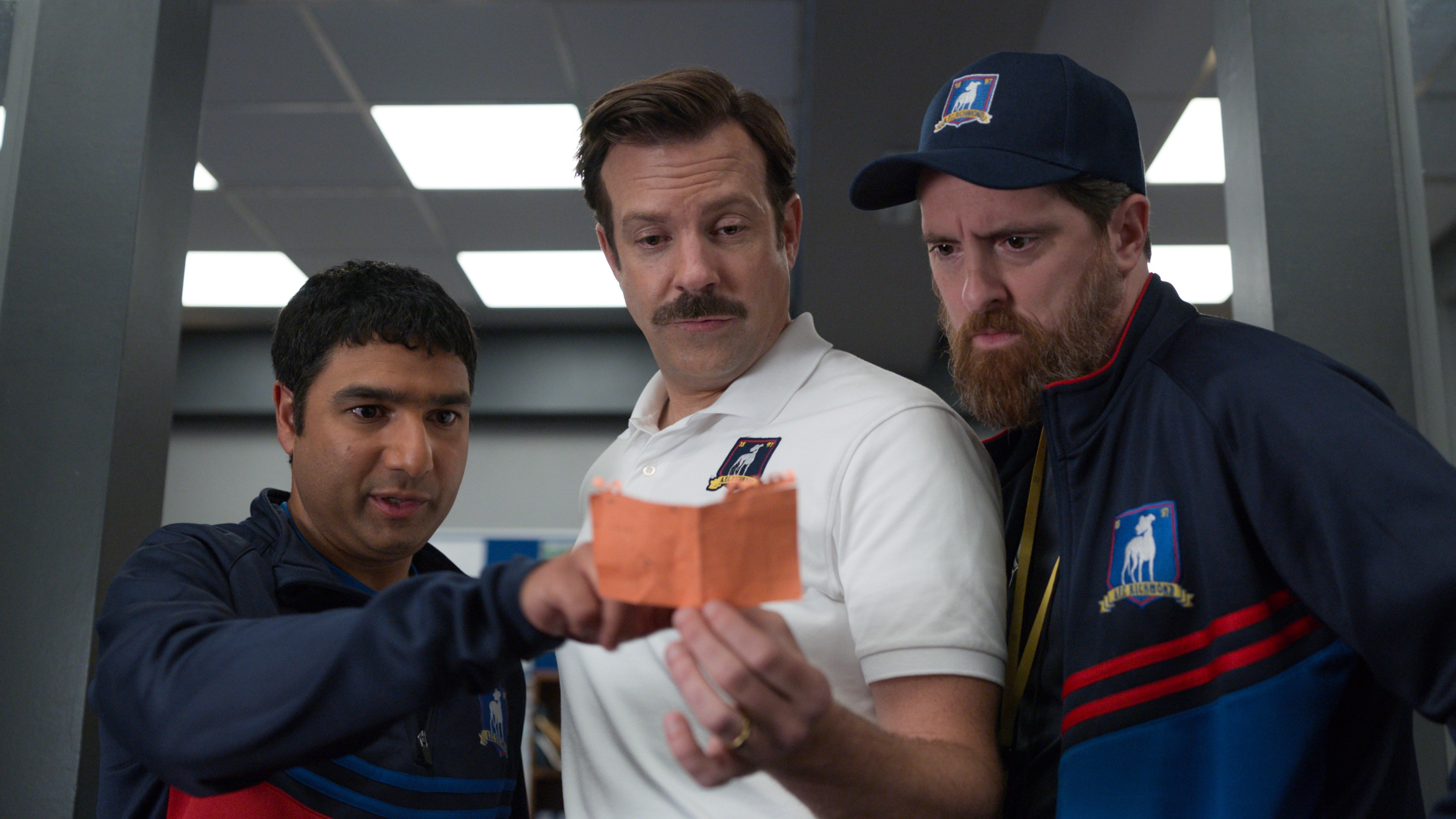 Nick Mohammed, Jason Sudeikis, and Brendan Hunt will be in Ted Lasso season 3