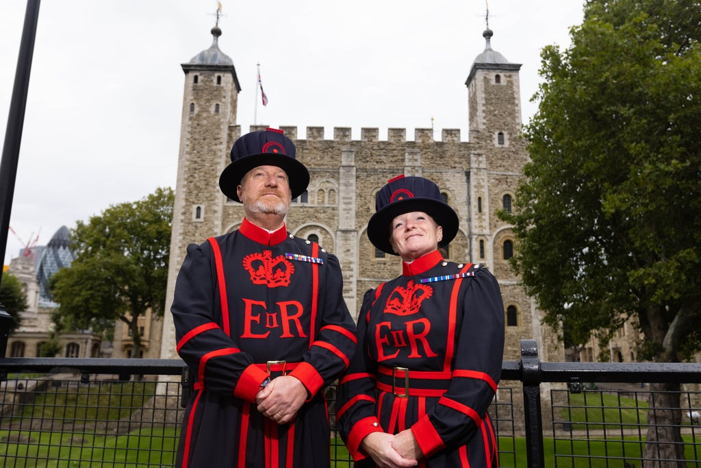 Two new 'beefeaters' join the ranks at the Tower of London