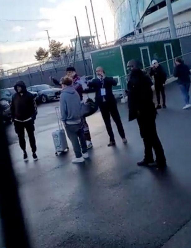 Aston Villa ace Tyrone Mings was spotted outside Tottenham's stadium